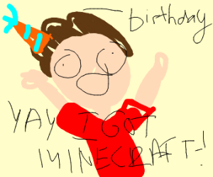 guy won minecraft for his b-day