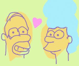 Homer loves Marge