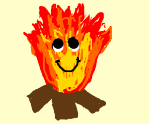 Happy fire