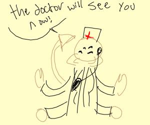 Scorpion Alien Plays Doctor
