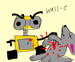 Waluigi murders wolf