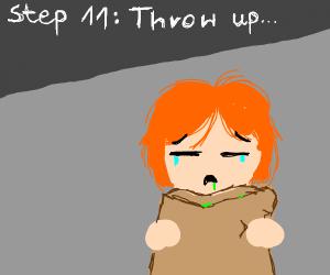 Step 10 eat the poop