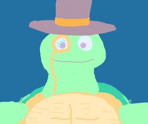 the turtle is fancy af