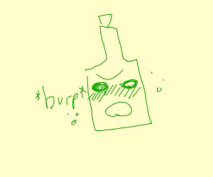 burping beer bottle