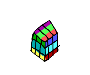 A not quite even rubik's cube