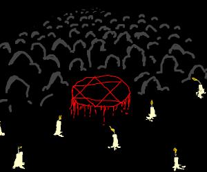 A satanic ritual