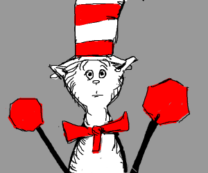 cat in the hat wants them to stop