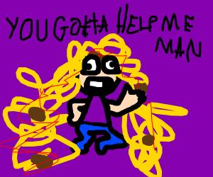 Spaghetti man needs a haircut