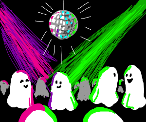 Ghosts going to a party
