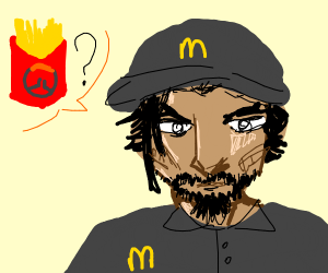hanzo working at mcdonalds