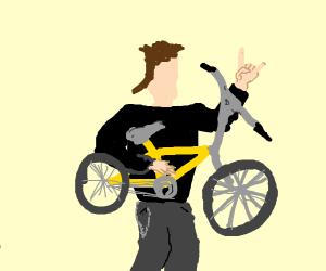 Shred on a bike