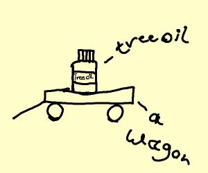 Tree oils a wagon