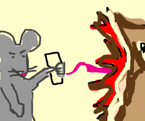 Angry mice + IPhone defend Nokia from monster