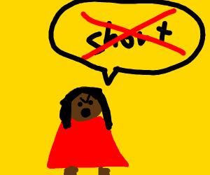 Stout Woman Claims she isn't Short