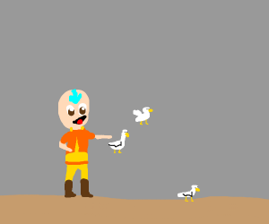 Aang from Avatar erm... uh... Duck-bending?