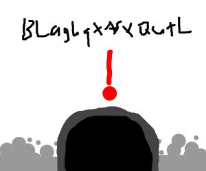 black blob surprised for no apparent reason