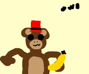 Ape wearing a Hat