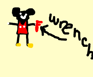 mickey mouse with a wrench