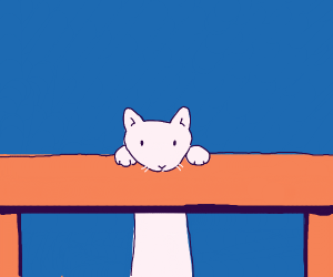 kitteh peeks up table