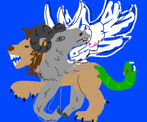 lion pegasus with goat head