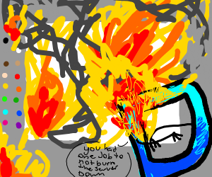 Drawception guy and color palett are on fire!
