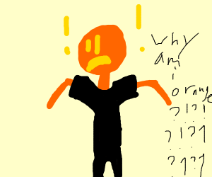 Orange skin boy