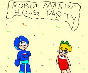 Megaman's house party