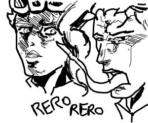 kakyoin reros giorno's face