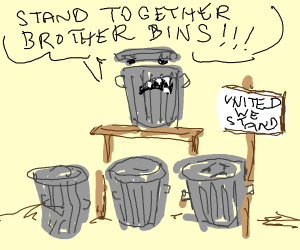 Trash can unionises