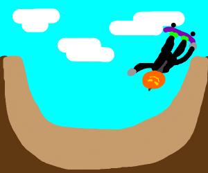 Extreme sports jack o lantern