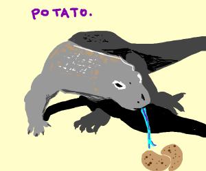 a lizard that want potato