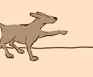 Dogo hunts squirl