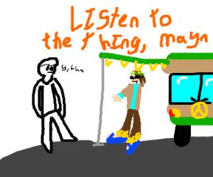 Hippie hear thing