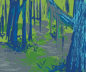 Spooky swamp forest