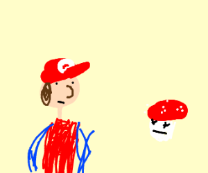 Mario finds a toad head and seems pretty OK