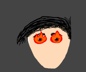 Flaming Eyeballs out of head with WOW