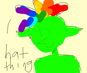 A goblin with a funny hat