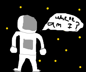 lone astronaut lost in space