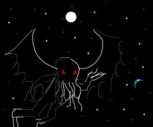 cthulhu attacks a fantasy world