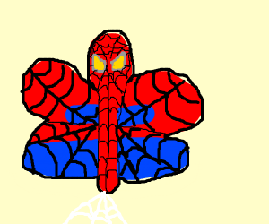 Spiderman as a butterfly