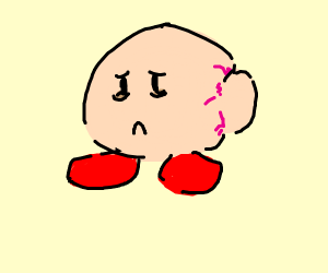 kirby with a tumor