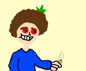 Stoned bob ross