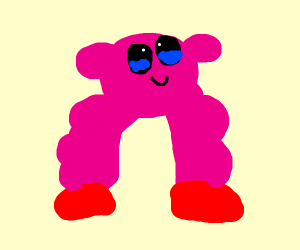 kirby with some buff legs