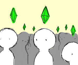 people, with diamonds. Like sims