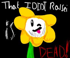flowey saying ralsei is dead