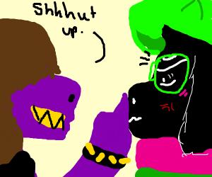 Susie silencing Ralsei