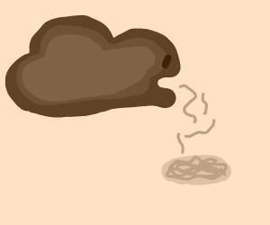 Cloud barfs spaghet