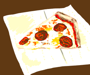PIZZA. ON. A. NAPKIN.