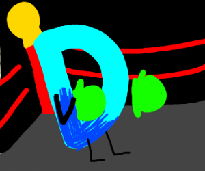 Drawception D wants to fight