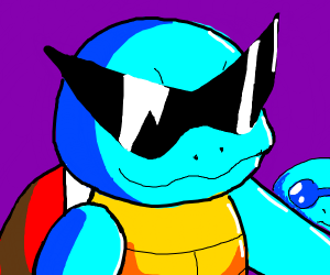 squritle with shades